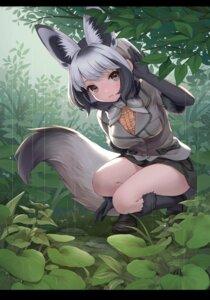 Rating: Safe Score: 18 Tags: animal_ears bat-eared_fox_(kemono_friends) kemono_friends kitsune ne-on skirt_lift tail User: dick_dickinson