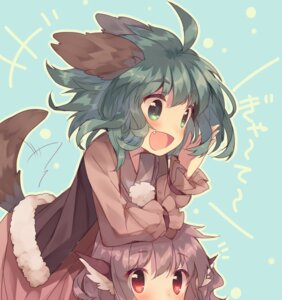 Rating: Safe Score: 52 Tags: animal_ears kasodani_kyouko mystia_lorelei tail touhou usamata User: nphuongsun93