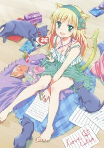 Rating: Safe Score: 56 Tags: animal_ears cleavage dress feet mekimeki neko summer_dress tail User: Bulzeeb