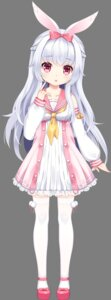 Rating: Safe Score: 80 Tags: animal_ears bunny_ears dress momona_(mimikko) tagme thighhighs transparent_png User: Sunimo