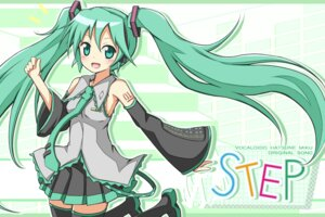 Rating: Safe Score: 17 Tags: hatsune_miku karamone-ze thighhighs vocaloid User: shizukane