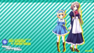 Rating: Safe Score: 11 Tags: hyper_highspeed_genius iris_windsor maid wallpaper windmill yukimi_kaede yukiwo User: topcdmouse