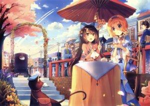 Rating: Safe Score: 29 Tags: heterochromia japanese_clothes kirero neko umbrella yukata User: Twinsenzw