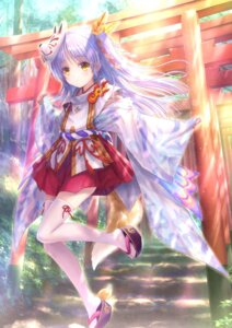 Rating: Safe Score: 35 Tags: angel_beats! goto-p japanese_clothes key kitsune tail tenshi thighhighs User: john.doe