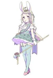 Rating: Safe Score: 21 Tags: animal_ears bunny_ears dress heels stockings suzuki_moeko thighhighs weapon User: KazukiNanako
