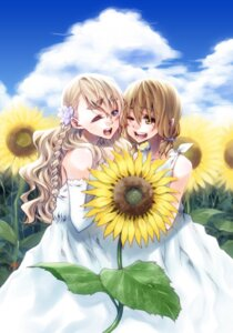 Rating: Safe Score: 10 Tags: dress k-on! kotobuki_tsumugi ringo78 summer_dress tainaka_ritsu User: hobbito