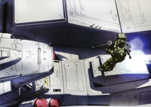 Rating: Safe Score: 5 Tags: gun gundam gundam_0083 mecha ms-06_zaku_ii User: Radioactive