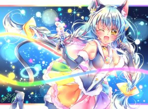 Rating: Safe Score: 11 Tags: animal_ears cure_cosmos nekomimi star_twinkle_precure tagme tail thighhighs User: Mr_GT