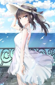 Rating: Questionable Score: 70 Tags: dress no_bra sakurajima_mai see_through seishun_buta_yarou_series summer_dress sunhyun User: BattlequeenYume