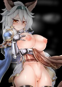 Rating: Explicit Score: 79 Tags: animal_ears armor breast_hold breasts granblue_fantasy heles katuu nipples no_bra nopan open_shirt pussy skirt_lift thighhighs User: Mr_GT