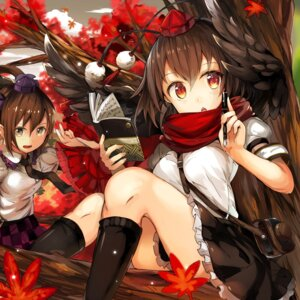 Rating: Safe Score: 21 Tags: himekaidou_hatate shameimaru_aya touhou umagenzin wings User: BattlequeenYume