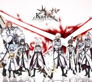 Rating: Safe Score: 16 Tags: alicia_katharina amaterasu_hirume_mikoto eyepatch freya_schwertleite gun irmfrid_burkhard julius_chariowald kadenz_fermata//akkord:fortissimo la'cryma ooba_kagerou sword uniform weapon yuria_chrono-schnee_weizen User: Anonymous