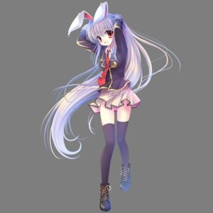 Rating: Safe Score: 63 Tags: animal_ears bunny_ears reisen_udongein_inaba seifuku sousouman thighhighs touhou transparent_png User: gnarf1975
