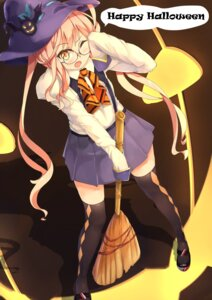 Rating: Safe Score: 15 Tags: halloween kantai_collection makigumo_(kancolle) megane ryouya thighhighs witch User: Mr_GT