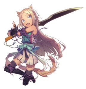 Rating: Safe Score: 30 Tags: animal_ears mckeee sword tail thighhighs User: Nekotsúh