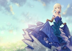 Rating: Safe Score: 27 Tags: cleavage dress fate/stay_night lip-mil saber skirt_lift User: Mr_GT
