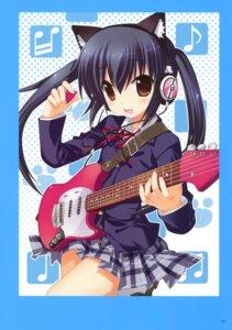 Rating: Safe Score: 29 Tags: animal_ears fujima_takuya guitar headphones k-on! nakano_azusa nekomimi seifuku User: crim