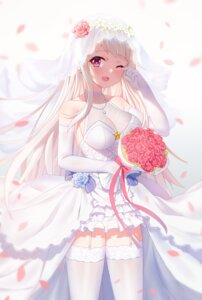 Rating: Safe Score: 8 Tags: cang_se_ye_hua cleavage dress see_through stockings thighhighs wedding_dress zhanjianshaonv User: Arsy