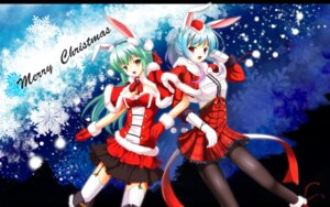 Rating: Safe Score: 24 Tags: animal_ears bunny_ears christmas fatke pantyhose thighhighs wallpaper User: fairyren