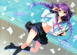 Rating: Safe Score: 91 Tags: an2a crease fixme megane seifuku wind_mail User: yong