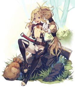 Rating: Safe Score: 24 Tags: cozy elf heels no_bra pointy_ears sword thighhighs User: BattlequeenYume