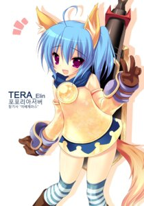 Rating: Safe Score: 38 Tags: animal_ears elin emily kitsune tail tera_online thighhighs User: fairyren