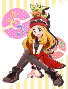 Rating: Safe Score: 12 Tags: chespin harimaron pokemon pokemon_xy serena_(pokemon) thighhighs yupiteru User: charunetra