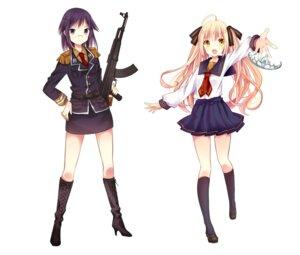 Rating: Safe Score: 23 Tags: gun heels izumi_minami koigakubo_princess_honey megane seifuku uniform User: saemonnokami