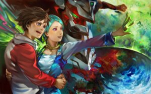Rating: Safe Score: 10 Tags: eureka eureka_seven k-bose mecha nirvash_typezero renton_thurston wallpaper User: Radioactive