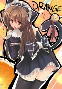Rating: Safe Score: 26 Tags: animal_ears dreamlight2000 gakusaku maid nekomimi tail thighhighs User: blooregardo