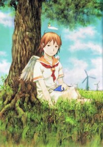 Rating: Safe Score: 5 Tags: abe_yoshitoshi haibane_renmei rakka wings User: petopeto