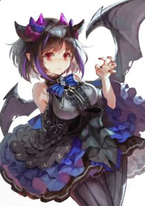 Rating: Safe Score: 16 Tags: dress horns pantyhose pointy_ears tamarashi wings User: BattlequeenYume