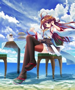 Rating: Safe Score: 50 Tags: heels ichi_rin kantai_collection kongou_(kancolle) no_bra thighhighs wet User: Mr_GT