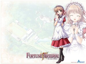 Rating: Safe Score: 12 Tags: bekkankou fortune_arterial maid wallpaper yuuki_haruna User: admin2
