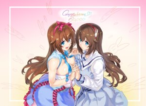Rating: Safe Score: 18 Tags: cleavage fujisaki_yua ore_p_1gou seifuku symmetrical_docking yua_(channel) User: Mr_GT