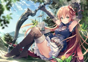 Rating: Safe Score: 84 Tags: arisa_(shadowverse) armor elf fairy heels pointy_ears shadowverse skirt_lift thighhighs weapon wings yoshino_ryou User: BattlequeenYume
