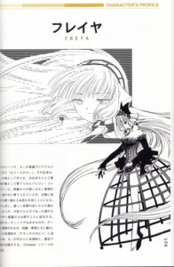 Rating: Safe Score: 9 Tags: binding_discoloration character_design chobits clamp freya monochrome User: charunetra