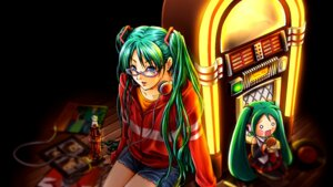 Rating: Safe Score: 5 Tags: hatsune_miku kagura_ryohki megane vocaloid wallpaper User: Phiris