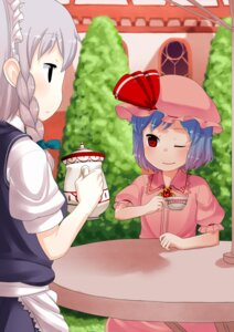 Rating: Safe Score: 6 Tags: izayoi_sakuya muku-coffee remilia_scarlet touhou User: Silvance
