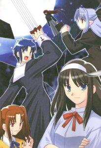 Rating: Safe Score: 3 Tags: aozaki_aoko ciel len toono_akiha tsukihime yumizuka_satsuki User: shadow_Hiei