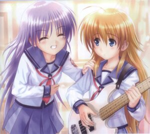 Rating: Safe Score: 15 Tags: angel_beats! bleed_through goto-p guitar irie_(angel_beats!) screening seifuku sekine User: acas