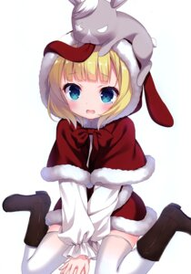 Rating: Safe Score: 14 Tags: chitosezaka_suzu christmas dress gochuumon_wa_usagi_desu_ka? heels kirima_sharo legato tagme thighhighs User: Radioactive