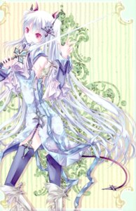 Rating: Safe Score: 20 Tags: dress kochou stockings sword thighhighs totenkreuz User: Radioactive