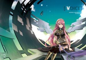 Rating: Safe Score: 14 Tags: headphones megurine_luka rahwia thighhighs vocaloid User: charunetra