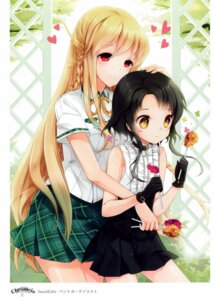 Rating: Safe Score: 65 Tags: cinia_pacifica juna seifuku sita_vilosa sword_girls User: yong