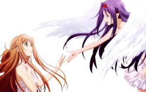 Rating: Safe Score: 47 Tags: asuna_(sword_art_online) dress konno_yuuki summer_dress sword_art_online wings User: Mekdra