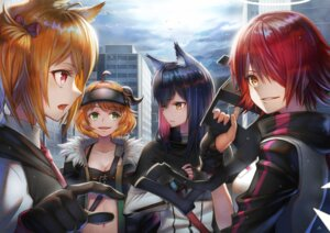 Rating: Questionable Score: 14 Tags: animal_ears arknights cleavage gun horns sho_(sumika) User: Dreista