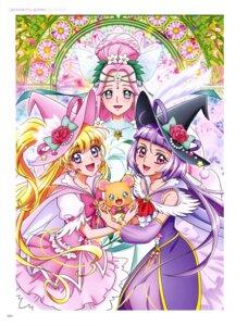 Rating: Safe Score: 4 Tags: asahina_mirai haa-chan_(precure) izayoi_riko mahou_girls_precure! miyamoto_emiko mofurun_(precure) pretty_cure witch User: drop
