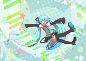 Rating: Safe Score: 8 Tags: hatsune_miku sakumamei thighhighs vocaloid User: Paddypam