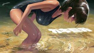 Rating: Questionable Score: 31 Tags: kaedeko_(kaedelic) school_swimsuit swimsuits tagme tan_lines wet wet_clothes User: Dreista